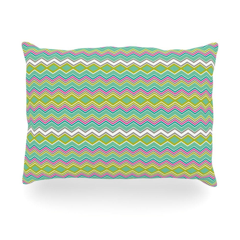 "Nicole Ketchum ""Chevron Love"" Oblong Pillow - KESS InHouse"