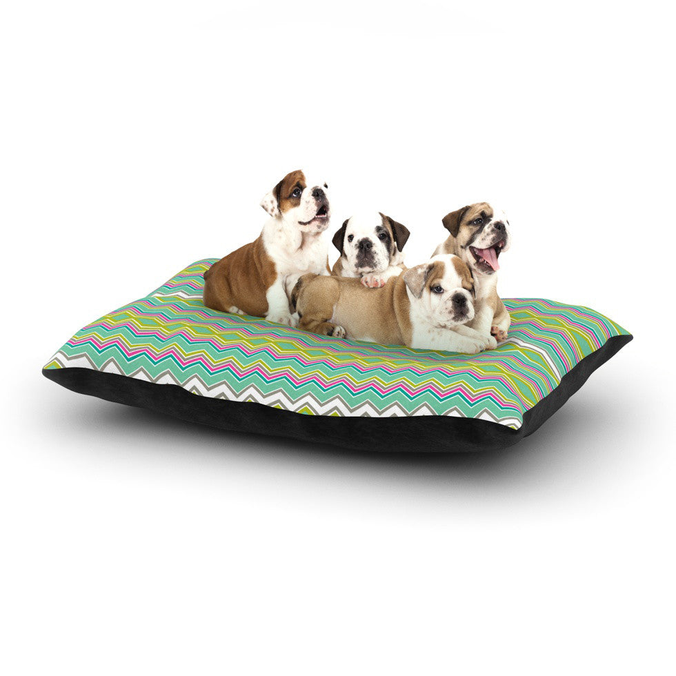 "Nicole Ketchum ""Chevron Love"" Dog Bed - KESS InHouse  - 1"