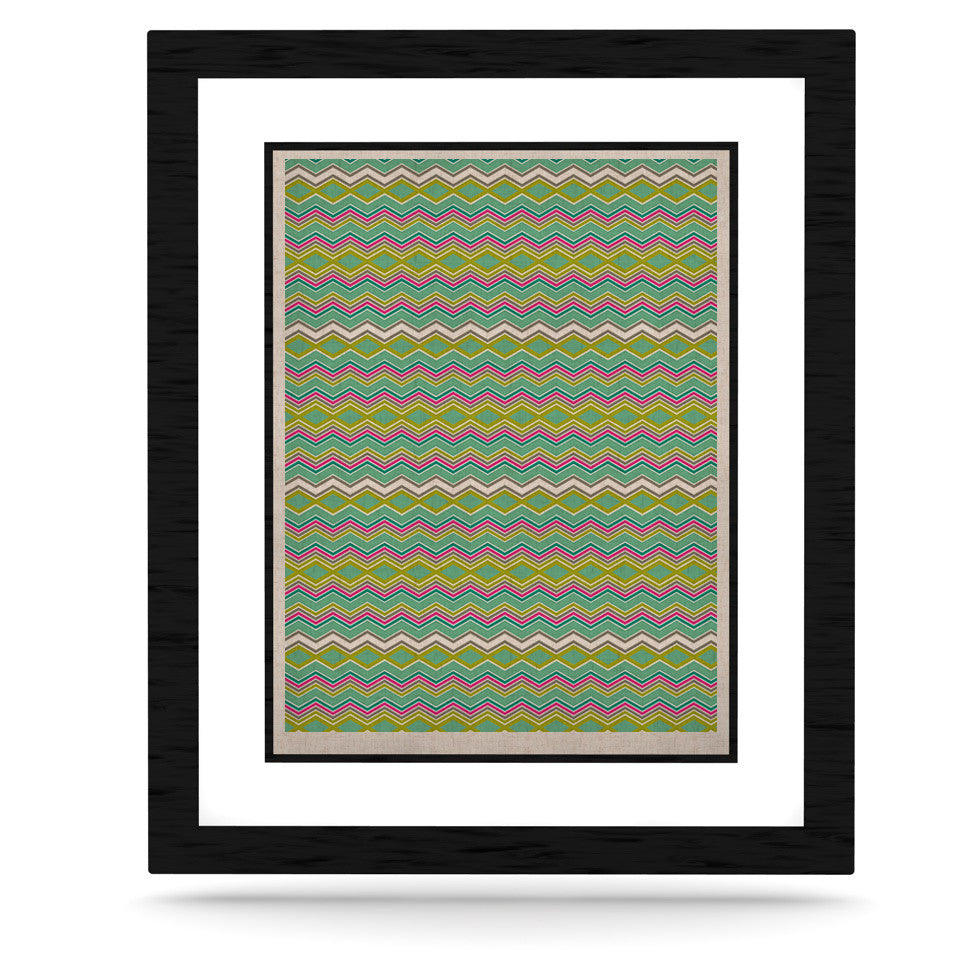 "Nicole Ketchum ""Chevron Love"" KESS Naturals Canvas (Frame not Included) - KESS InHouse  - 1"