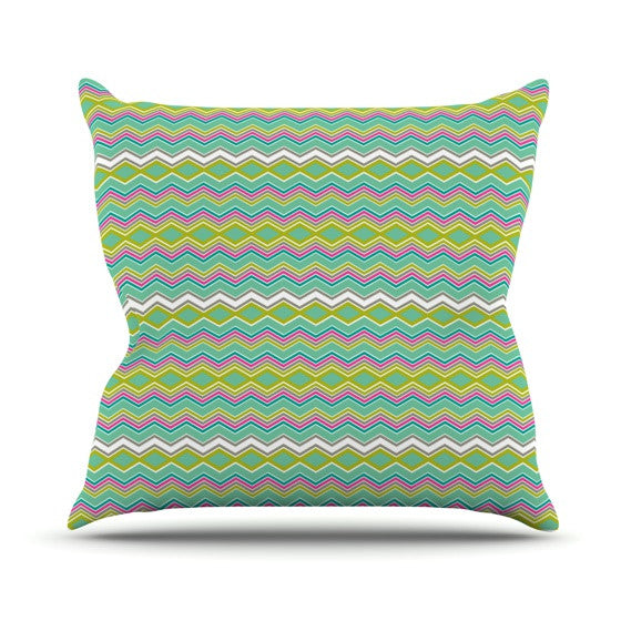 "Nicole Ketchum ""Chevron Love"" Outdoor Throw Pillow - KESS InHouse  - 1"