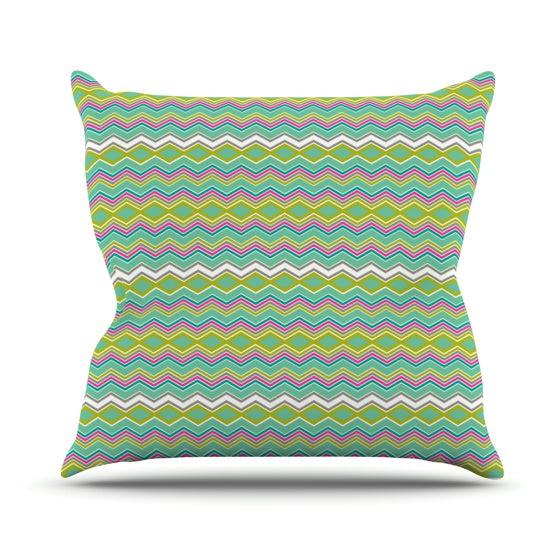 "Nicole Ketchum ""Chevron Love"" Throw Pillow - KESS InHouse  - 1"