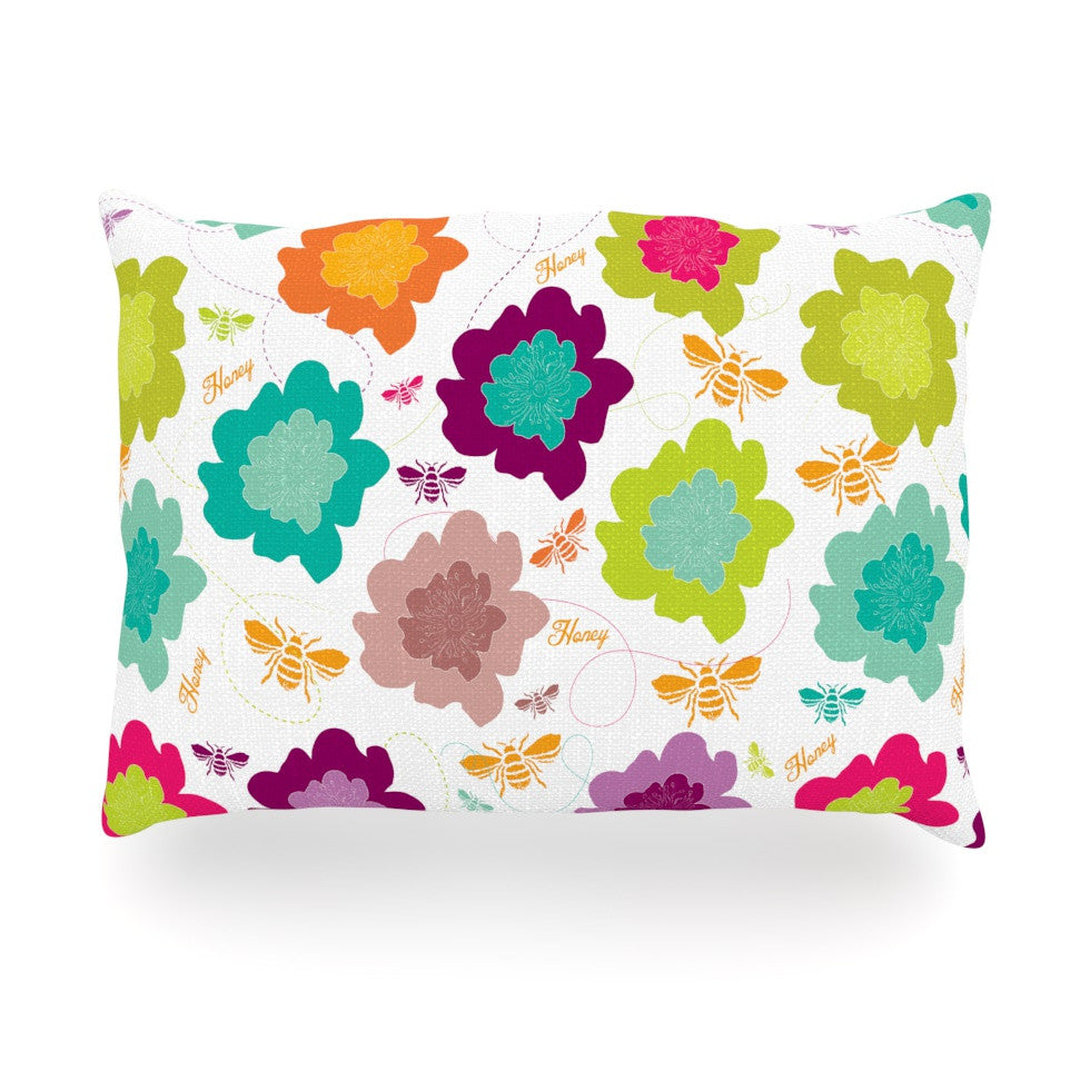 "Nicole Ketchum ""Bee Highway"" Oblong Pillow - KESS InHouse"