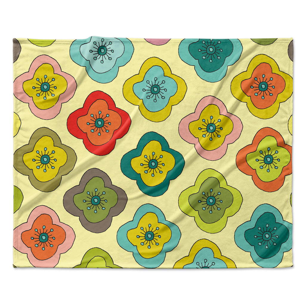 "Nicole Ketchum ""Forest Bloom"" Fleece Throw Blanket"