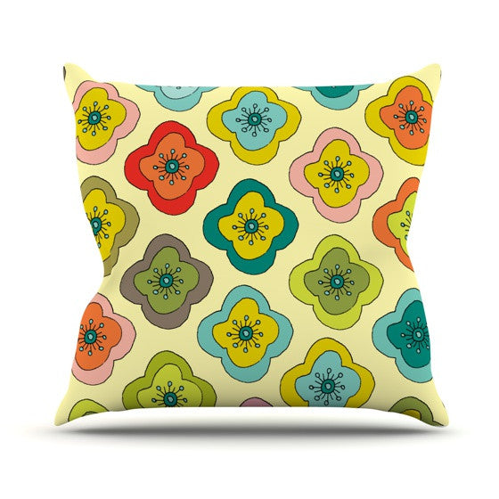 "Nicole Ketchum ""Forest Bloom"" Outdoor Throw Pillow - KESS InHouse  - 1"