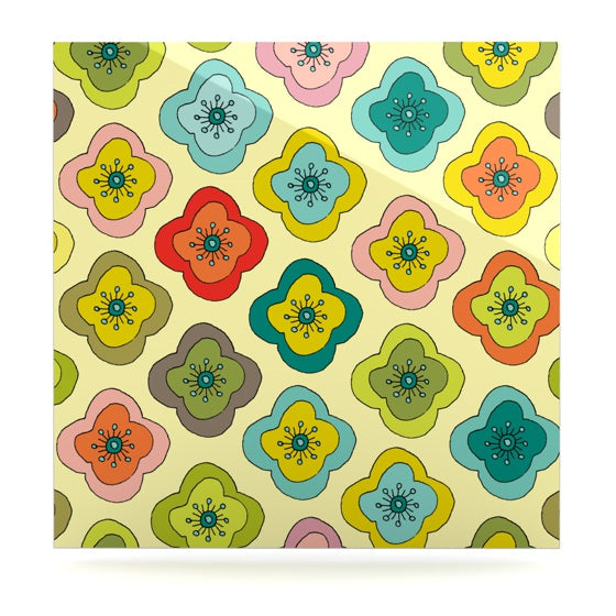 "Nicole Ketchum ""Forest Bloom"" Luxe Square Panel - KESS InHouse  - 1"