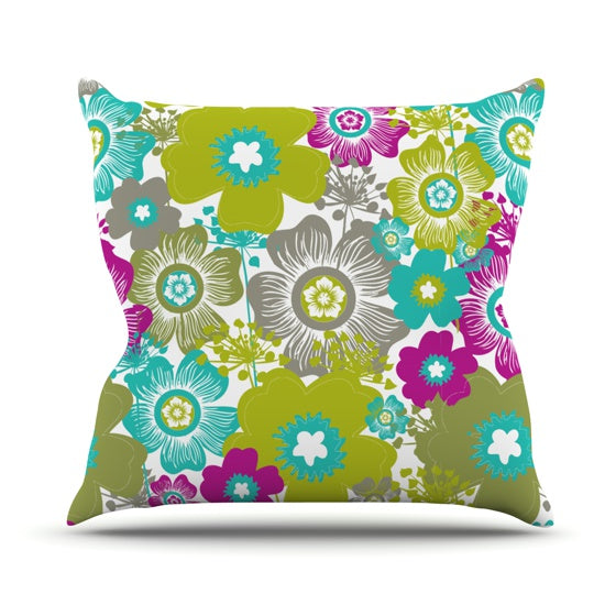 "Nicole Ketchum ""Little Bloom"" Throw Pillow - KESS InHouse  - 1"