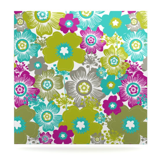 "Nicole Ketchum ""Little Bloom"" Luxe Square Panel - KESS InHouse  - 1"