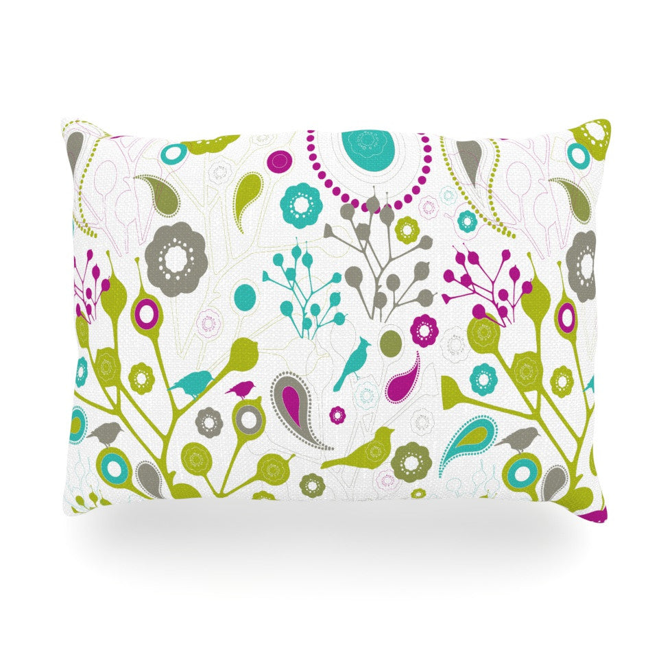 "Nicole Ketchum ""Bird Fantasy"" Oblong Pillow - KESS InHouse"