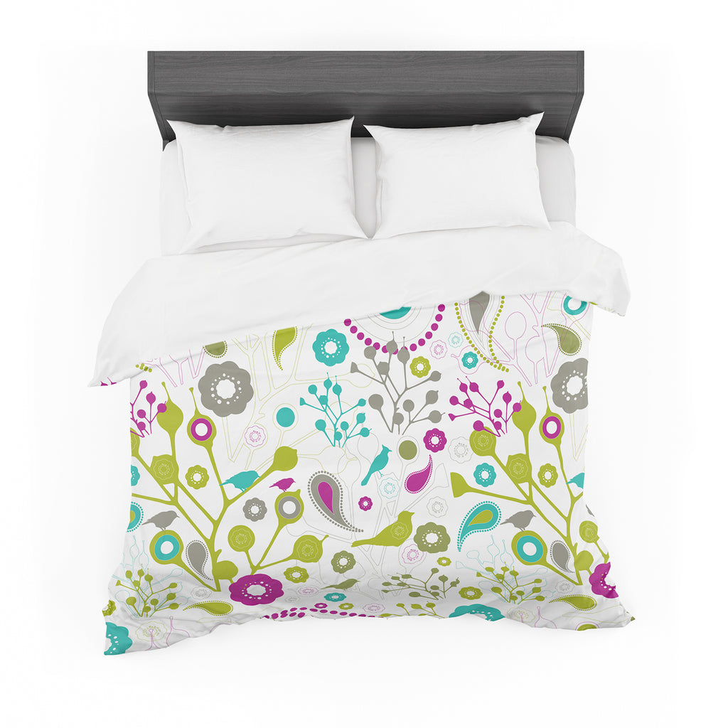 "Nicole Ketchum ""Bird Fantasy"" Cotton Duvet"