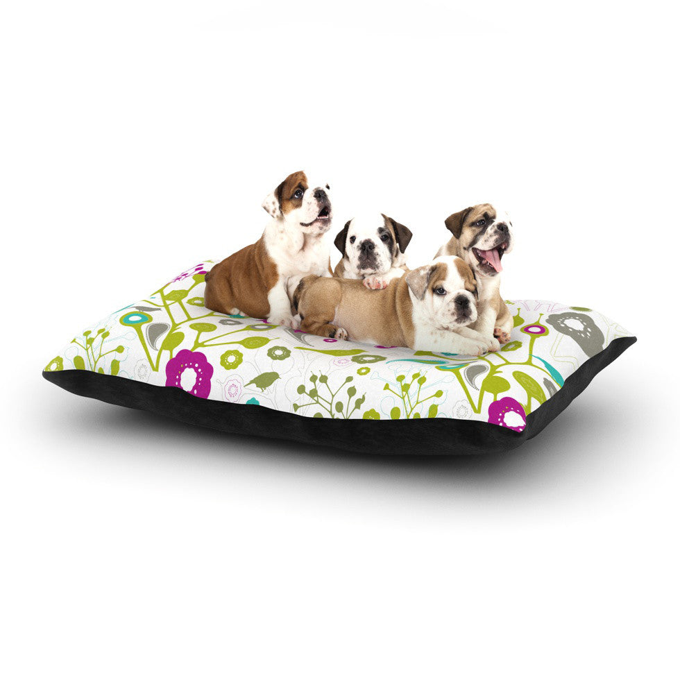 "Nicole Ketchum ""Bird Fantasy"" Dog Bed - KESS InHouse  - 1"
