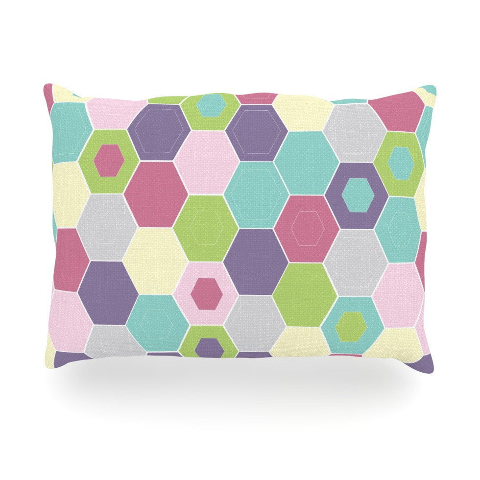 "Nicole Ketchum ""Pale Bee Hex."" Oblong Pillow - KESS InHouse"