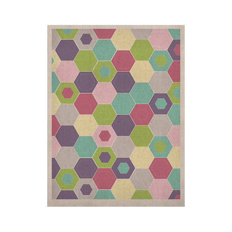 "Nicole Ketchum ""Pale Bee Hex."" KESS Naturals Canvas (Frame not Included) - KESS InHouse"