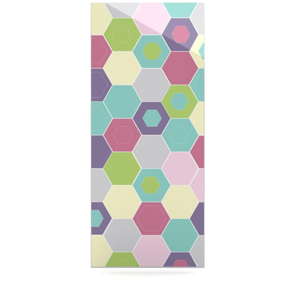 "Nicole Ketchum ""Pale Bee Hex."" Luxe Rectangle Panel - KESS InHouse"