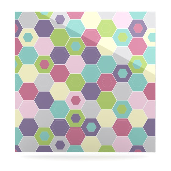 "Nicole Ketchum ""Pale Bee Hex."" Luxe Square Panel - KESS InHouse"