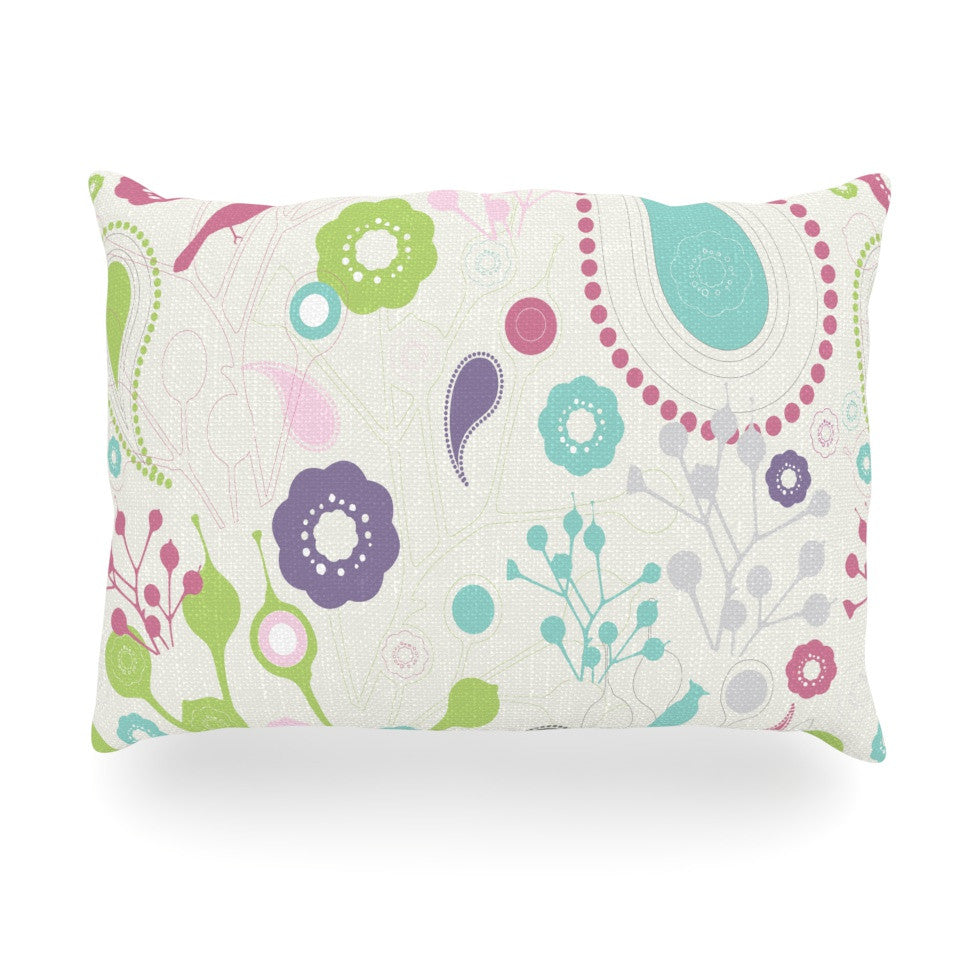"Nicole Ketchum ""Bird Song"" Oblong Pillow - KESS InHouse"