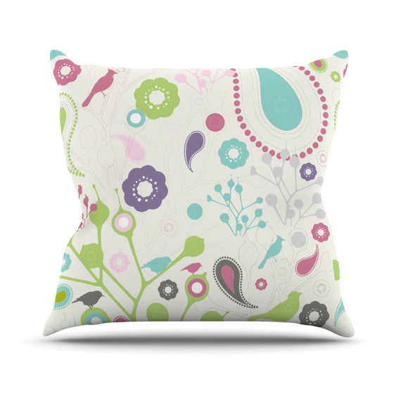 "Nicole Ketchum ""Bird Song"" Throw Pillow - KESS InHouse  - 1"