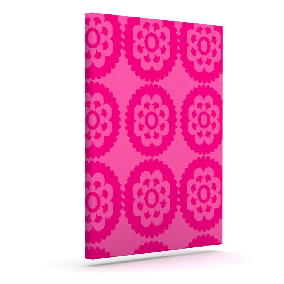 "Nicole Ketchum ""Moroccan Hot Pink"" Outdoor Canvas Wall Art - KESS InHouse"