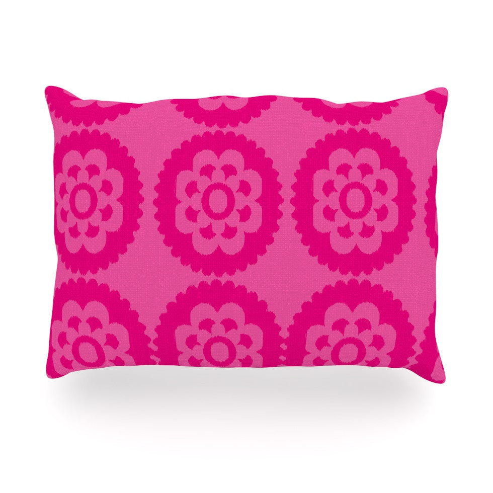 "Nicole Ketchum ""Moroccan Hot Pink"" Oblong Pillow - KESS InHouse"
