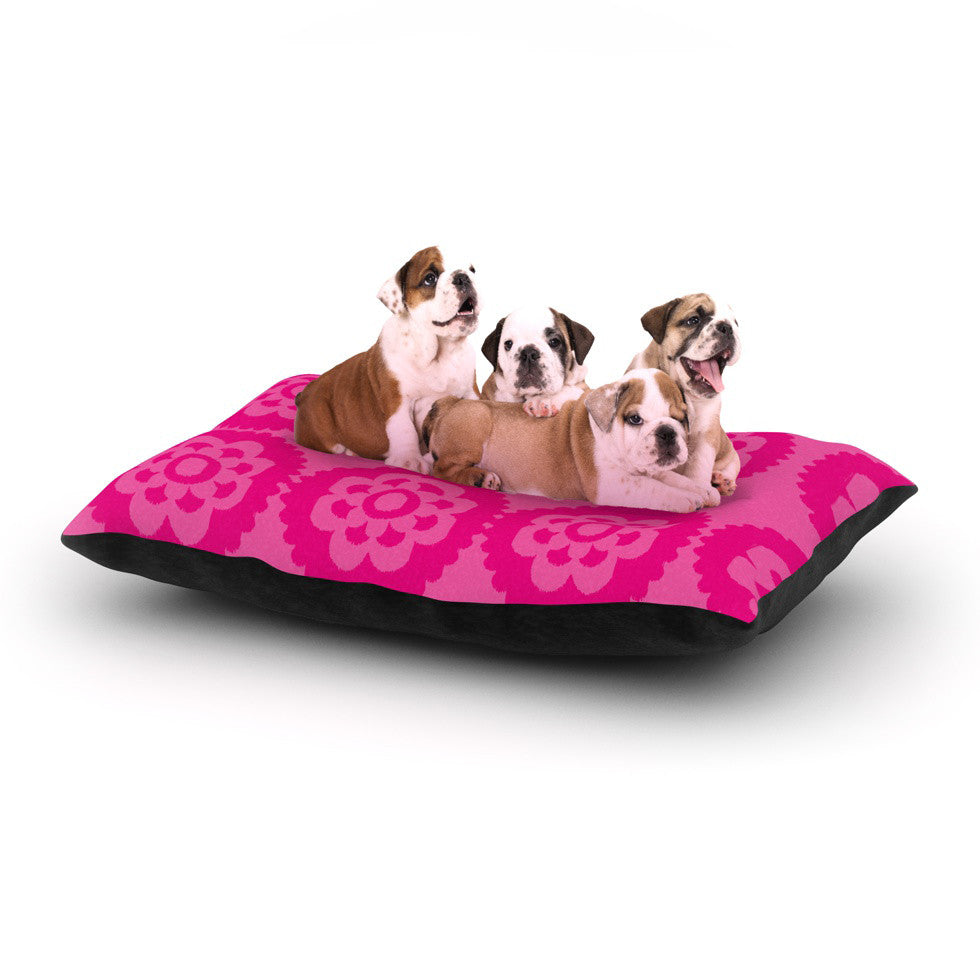 "Nicole Ketchum ""Moroccan Hot Pink"" Dog Bed - KESS InHouse  - 1"