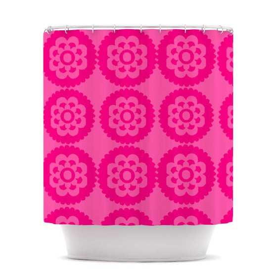 "Nicole Ketchum ""Moroccan Hot Pink"" Shower Curtain - KESS InHouse"