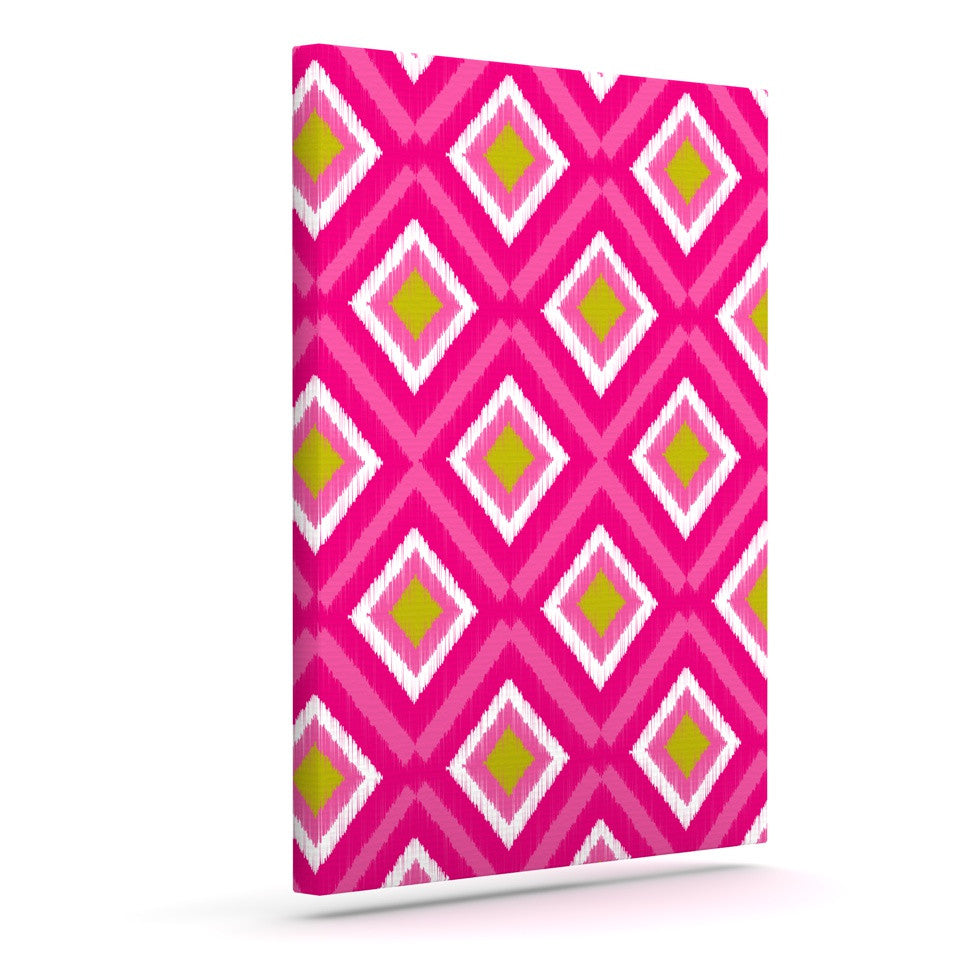 "Nicole Ketchum ""Moroccan Hot Pink Tile"" Outdoor Canvas Wall Art - KESS InHouse"