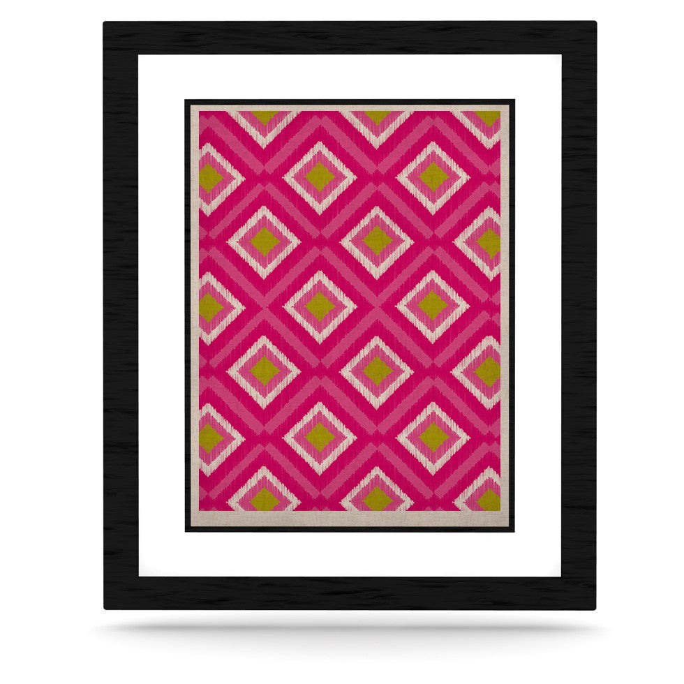 "Nicole Ketchum ""Moroccan Hot Pink Tile"" KESS Naturals Canvas (Frame not Included) - KESS InHouse  - 1"