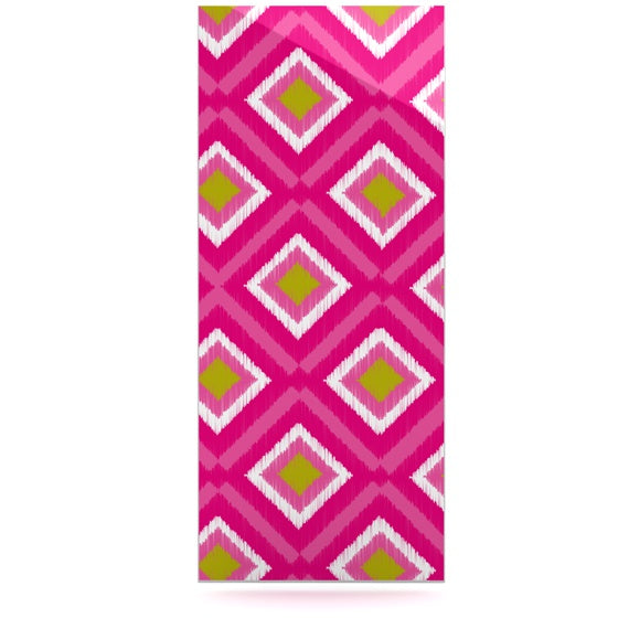 "Nicole Ketchum ""Moroccan Hot Pink Tile"" Luxe Rectangle Panel - KESS InHouse  - 1"
