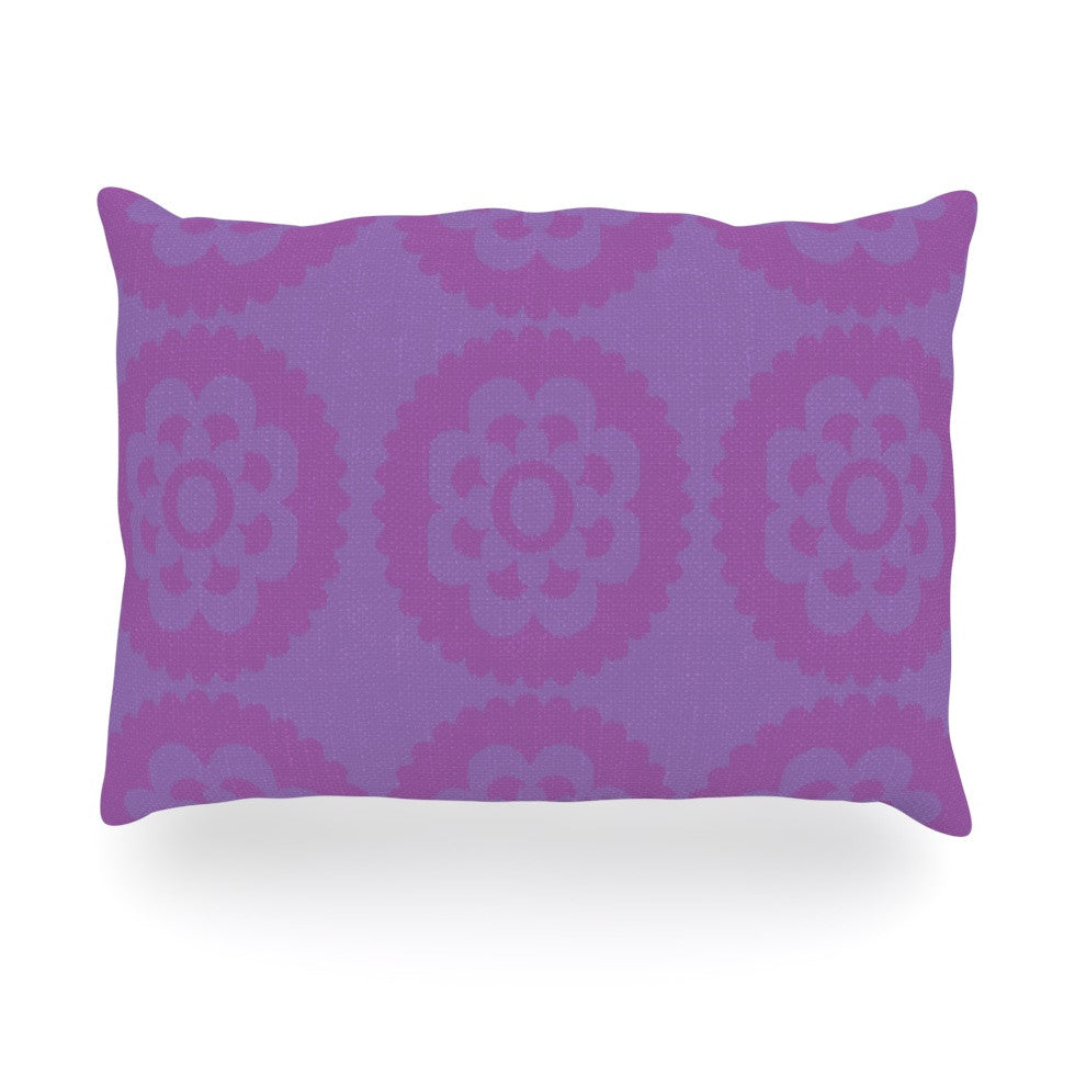 "Nicole Ketchum ""Moroccan Lilac"" Oblong Pillow - KESS InHouse"