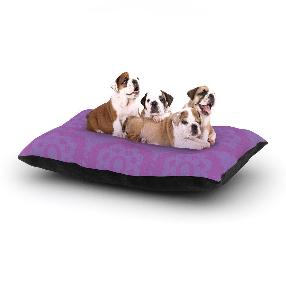 "Nicole Ketchum ""Moroccan Lilac"" Dog Bed - KESS InHouse  - 1"