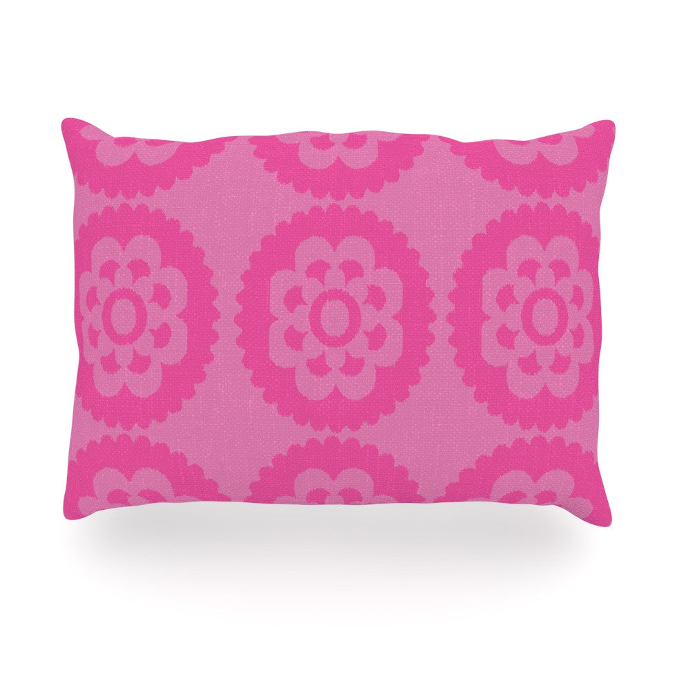 "Nicole Ketchum ""Moroccan Pink"" Oblong Pillow - KESS InHouse"