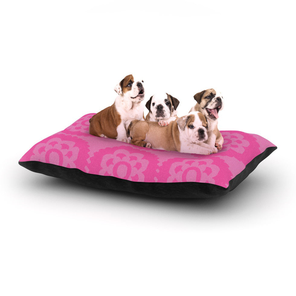 "Nicole Ketchum ""Moroccan Pink"" Dog Bed - KESS InHouse  - 1"