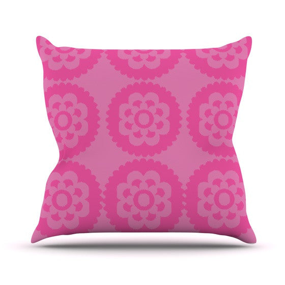 "Nicole Ketchum ""Moroccan Pink"" Outdoor Throw Pillow - KESS InHouse  - 1"
