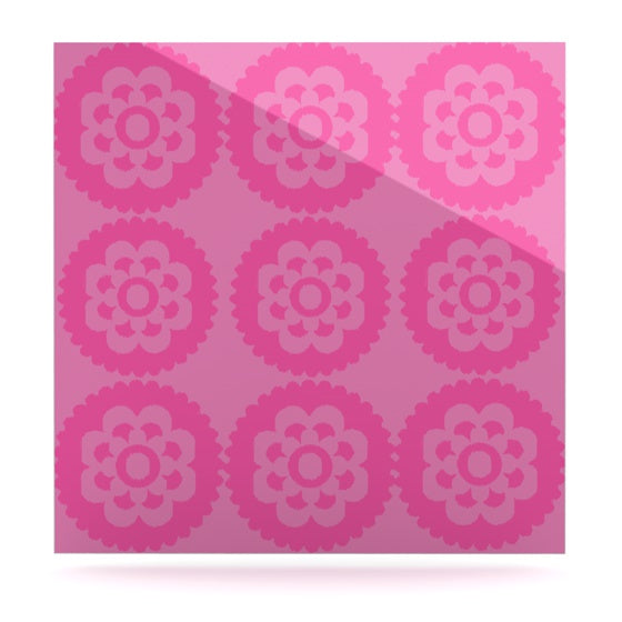 "Nicole Ketchum ""Moroccan Pink"" Luxe Square Panel - KESS InHouse  - 1"