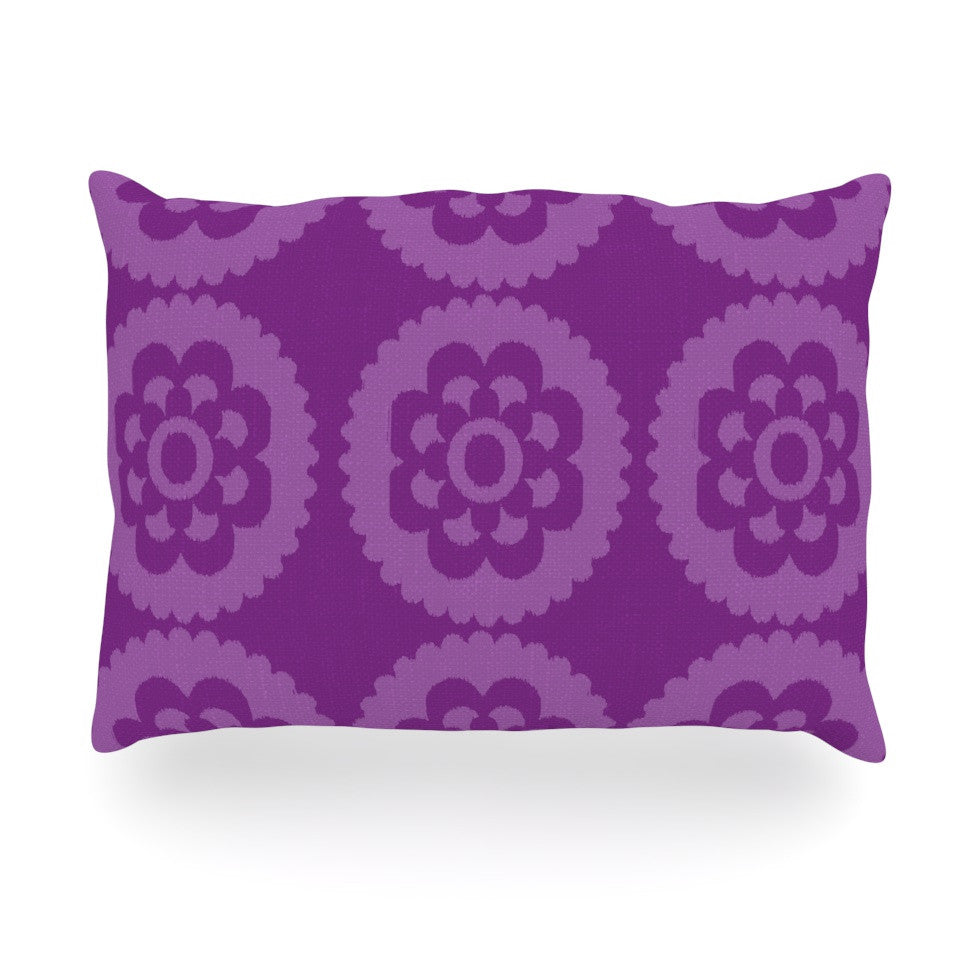 "Nicole Ketchum ""Moroccan Purple"" Oblong Pillow - KESS InHouse"