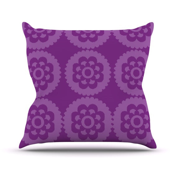"Nicole Ketchum ""Moroccan Purple"" Outdoor Throw Pillow - KESS InHouse  - 1"