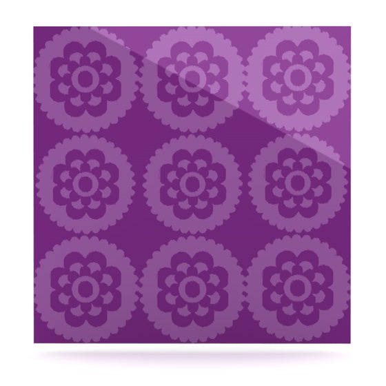 "Nicole Ketchum ""Moroccan Purple"" Luxe Square Panel - KESS InHouse  - 1"
