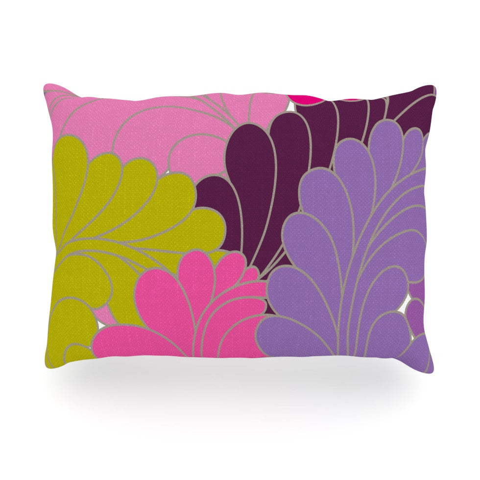 "Nicole Ketchum ""Moroccan Leaves"" Oblong Pillow - KESS InHouse"