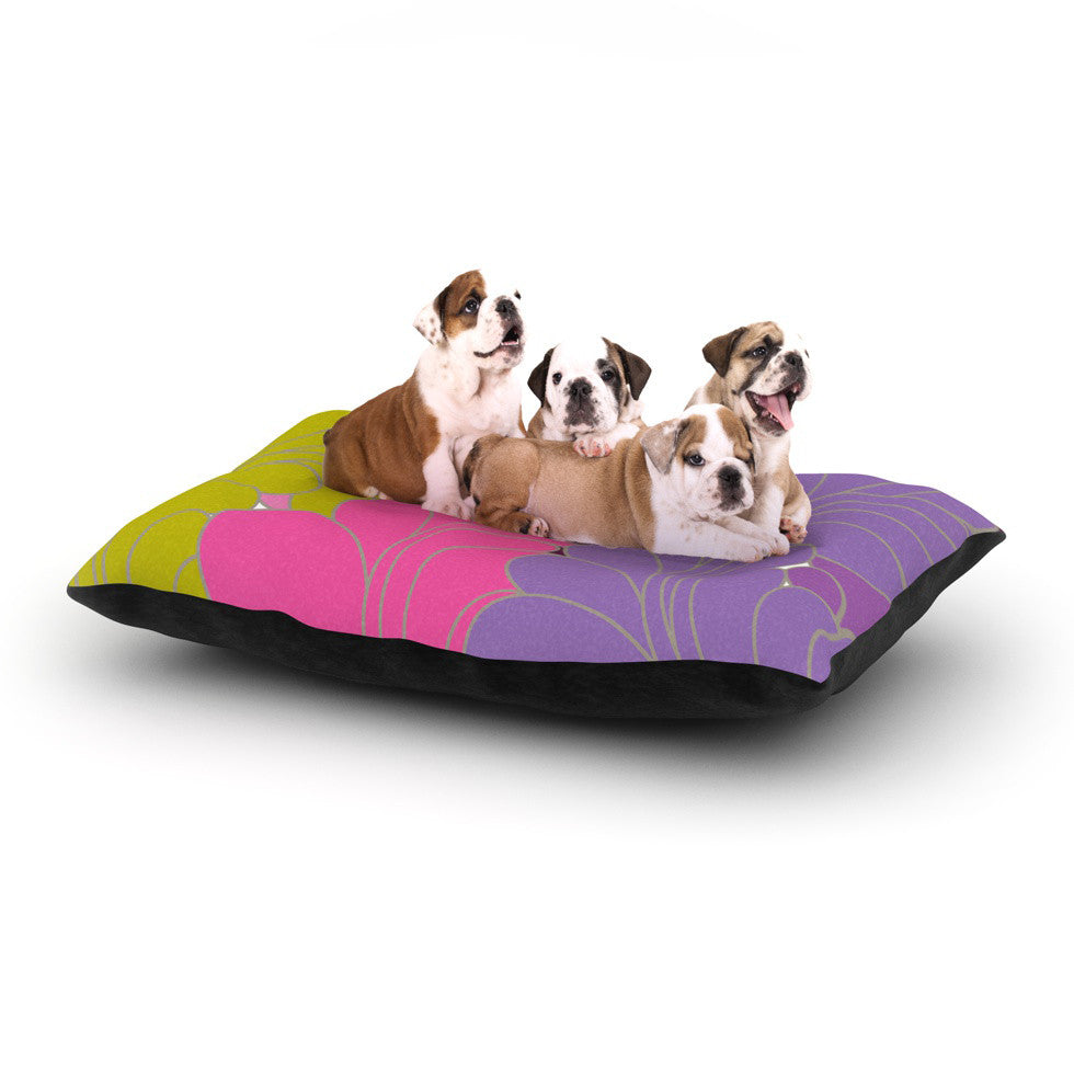"Nicole Ketchum ""Moroccan Leaves"" Dog Bed - KESS InHouse  - 1"