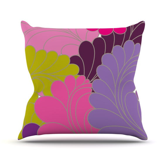 "Nicole Ketchum ""Moroccan Leaves"" Outdoor Throw Pillow - KESS InHouse  - 1"
