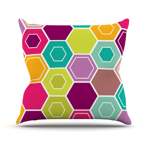 "Nicole Ketchum ""Arabian Bee"" Throw Pillow - KESS InHouse"