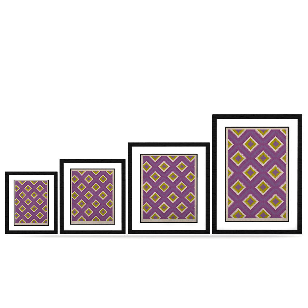 "Nicole Ketchum ""Purple Spash Tile"" KESS Naturals Canvas (Frame not Included) - KESS InHouse"