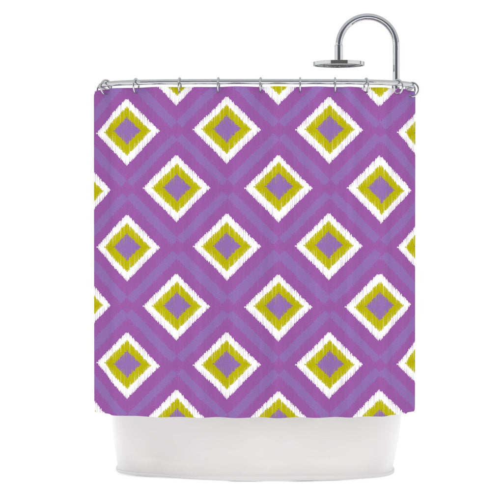 "Nicole Ketchum ""Purple Spash Tile"" Shower Curtain - KESS InHouse"