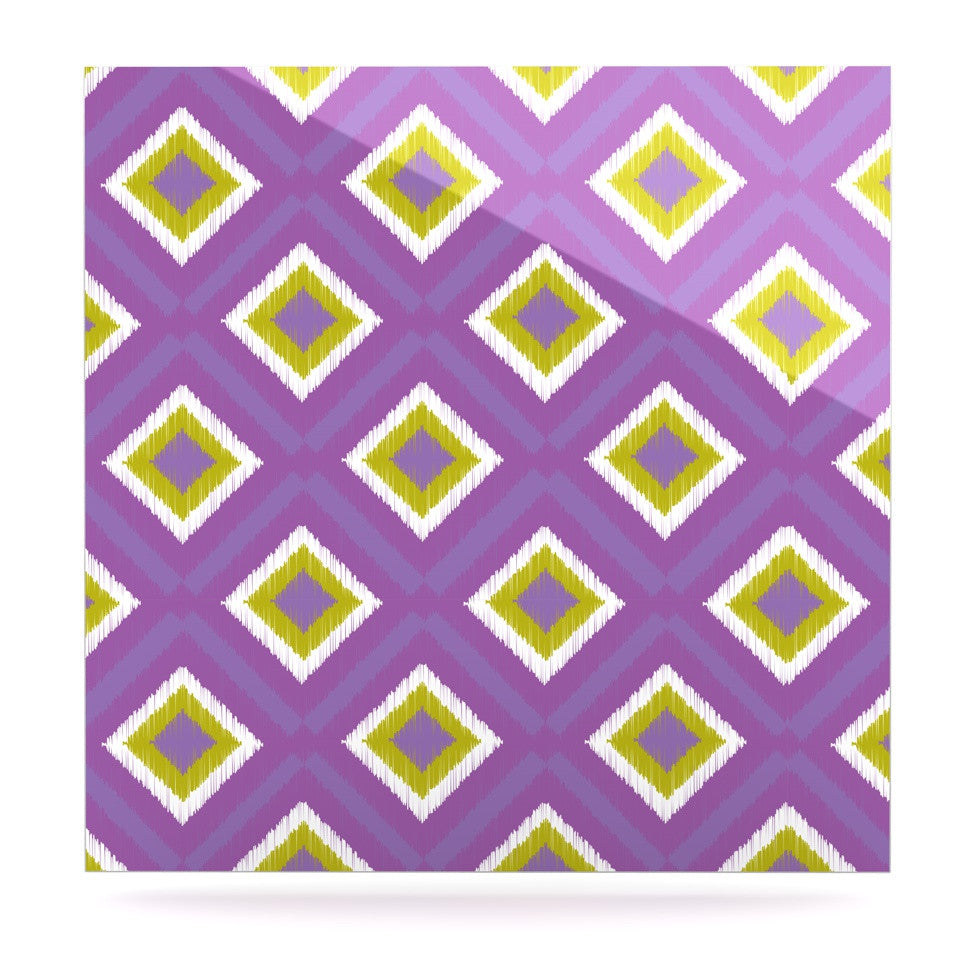 "Nicole Ketchum ""Purple Spash Tile"" Luxe Square Panel - KESS InHouse  - 1"