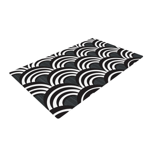 "Nicole Ketchum ""Art Deco Black""  Woven Area Rug - Outlet Item"