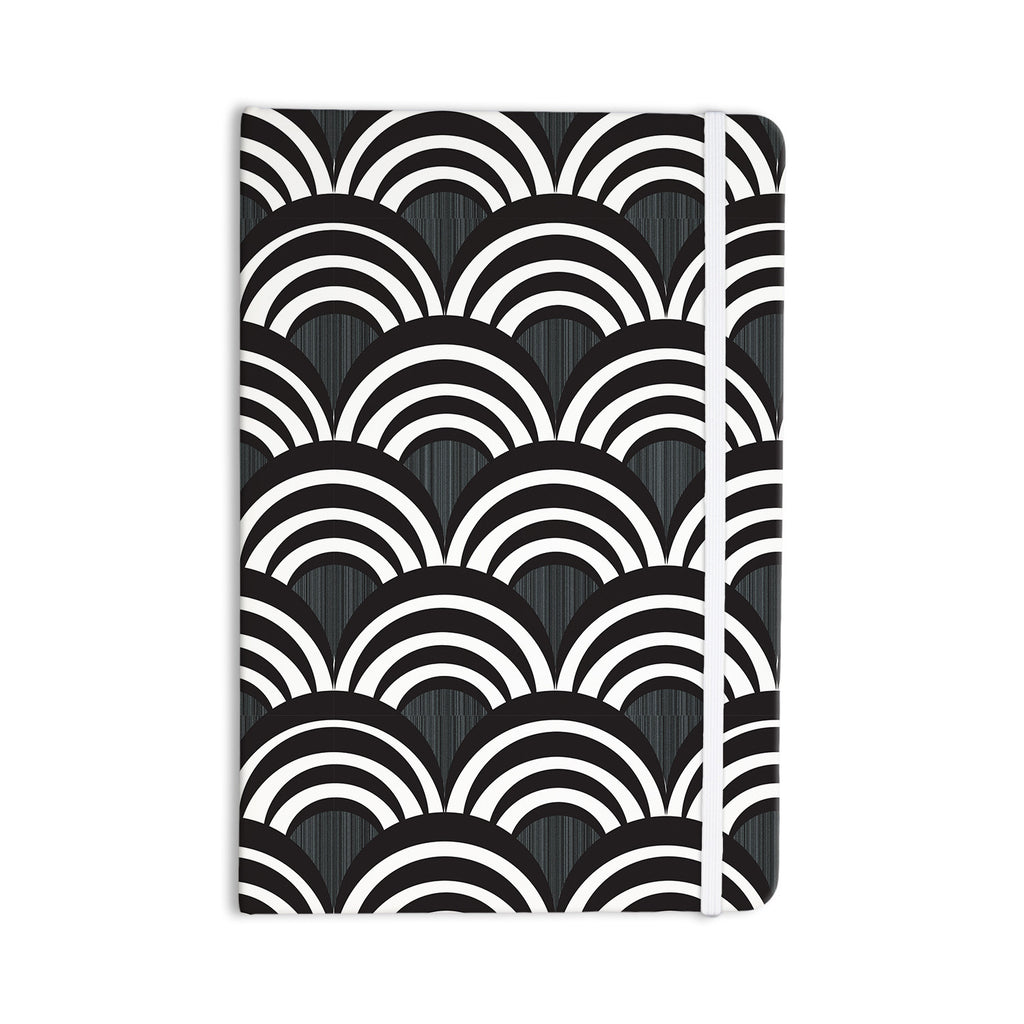 "Nicole Ketchum ""Art Deco Black"" Everything Notebook - KESS InHouse  - 1"