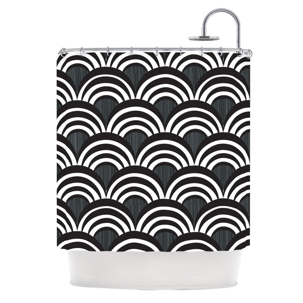 "Nicole Ketchum ""Art Deco Black"" Shower Curtain - KESS InHouse"