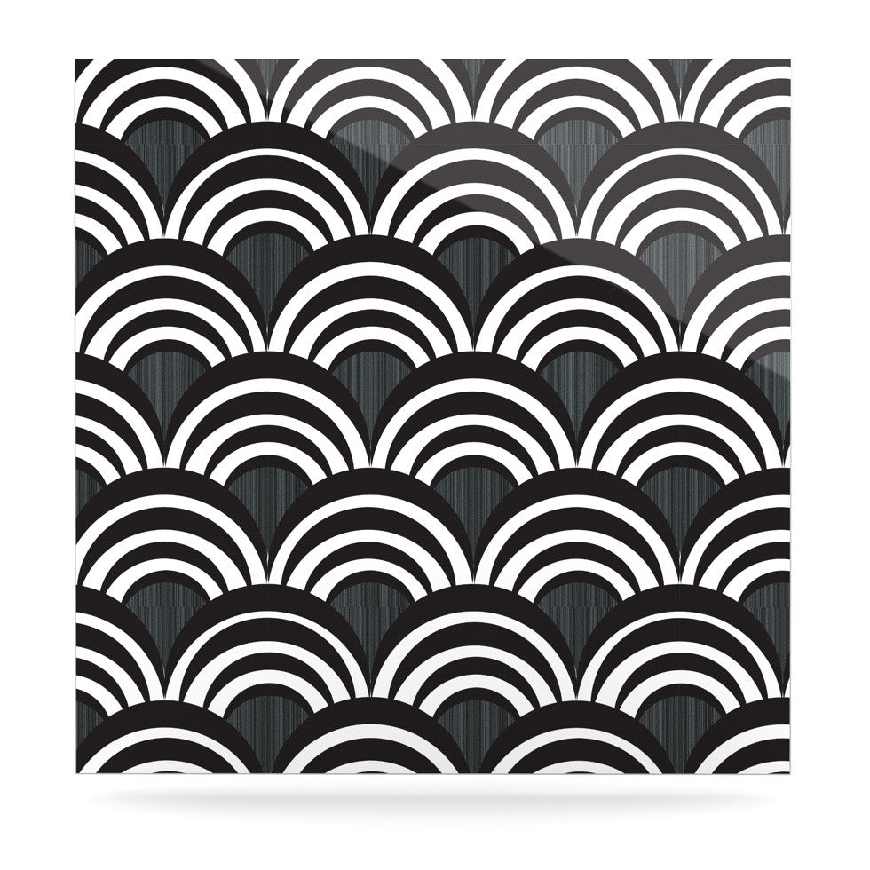"Nicole Ketchum ""Art Deco Black"" Luxe Square Panel - KESS InHouse  - 1"