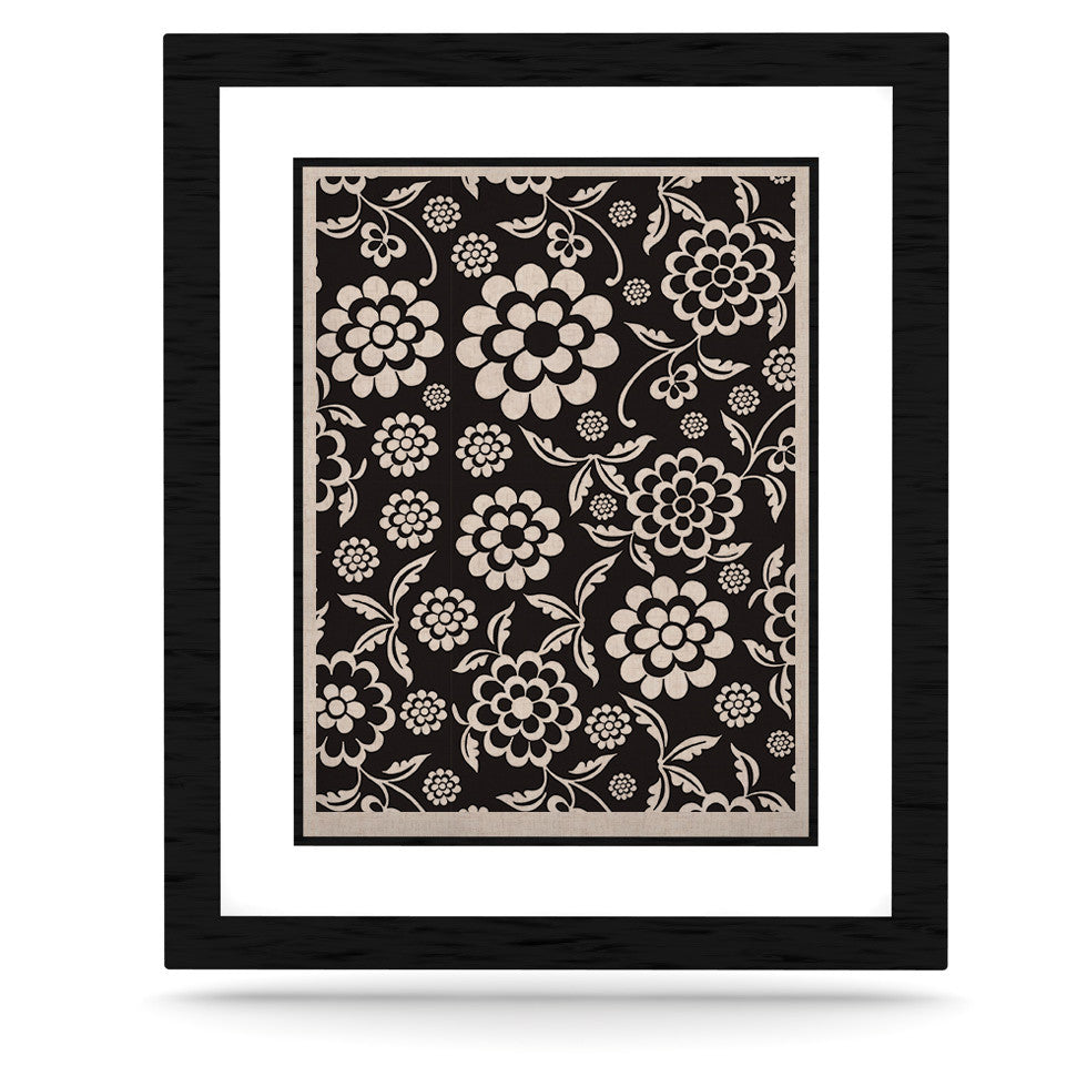 "Nicole Ketchum ""Cherry Floral Black"" KESS Naturals Canvas (Frame not Included) - KESS InHouse  - 1"