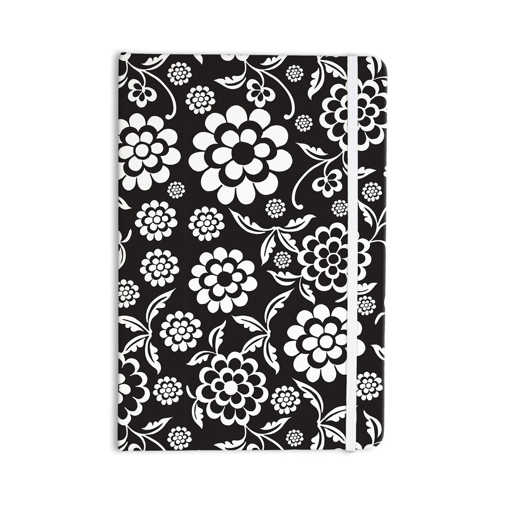 "Nicole Ketchum ""Cherry Floral Black"" Everything Notebook - KESS InHouse  - 1"