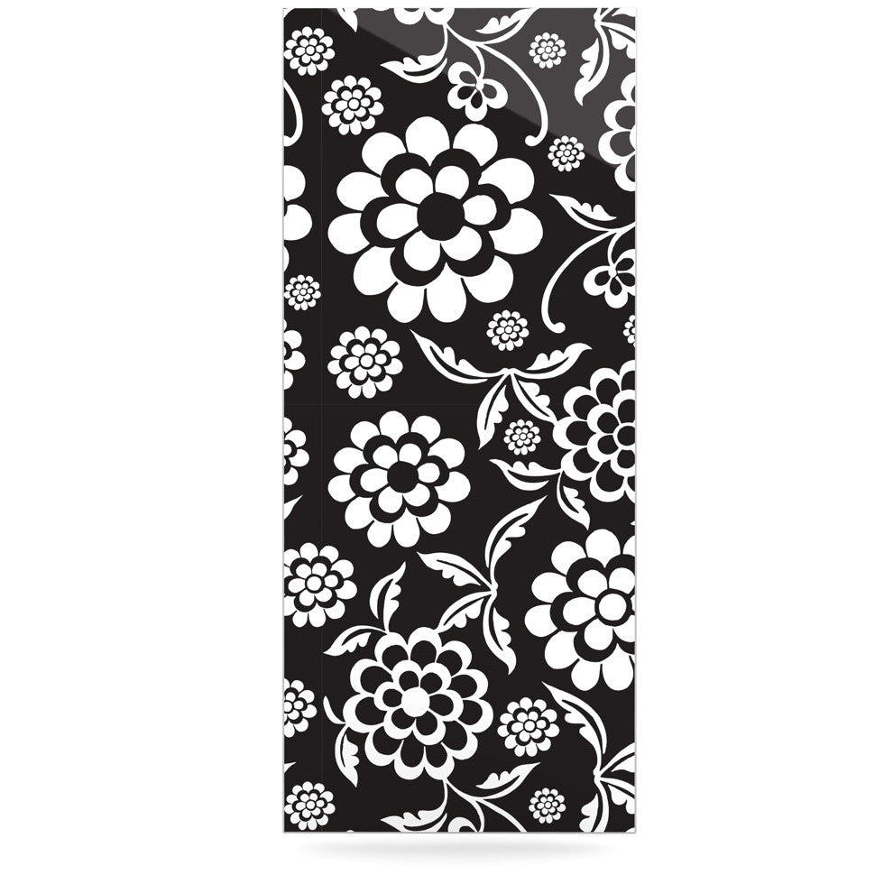 "Nicole Ketchum ""Cherry Floral Black"" Luxe Rectangle Panel - KESS InHouse  - 1"